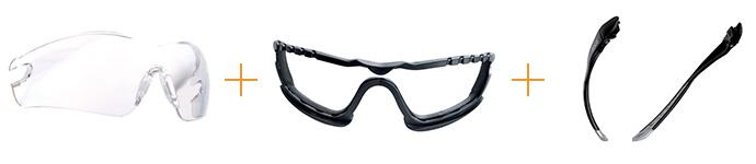 Защитные очки открытого типа Bolle COBRA (с дужками)